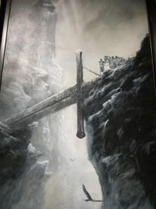Lancelot au pont de l'épée - acrylique sur toile de Didier Graffet